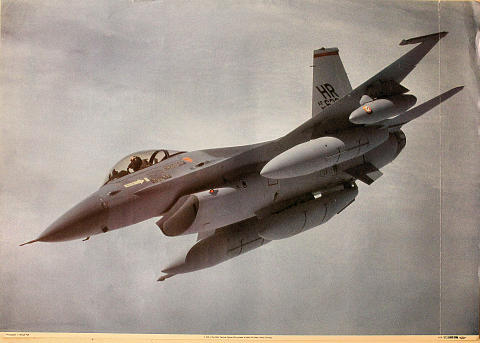 F-16A of the 50th Tactical Fighter Wing Poster