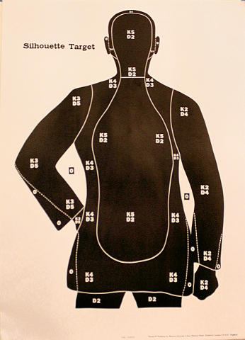 F.B.I. Target - Silhouette Target Poster