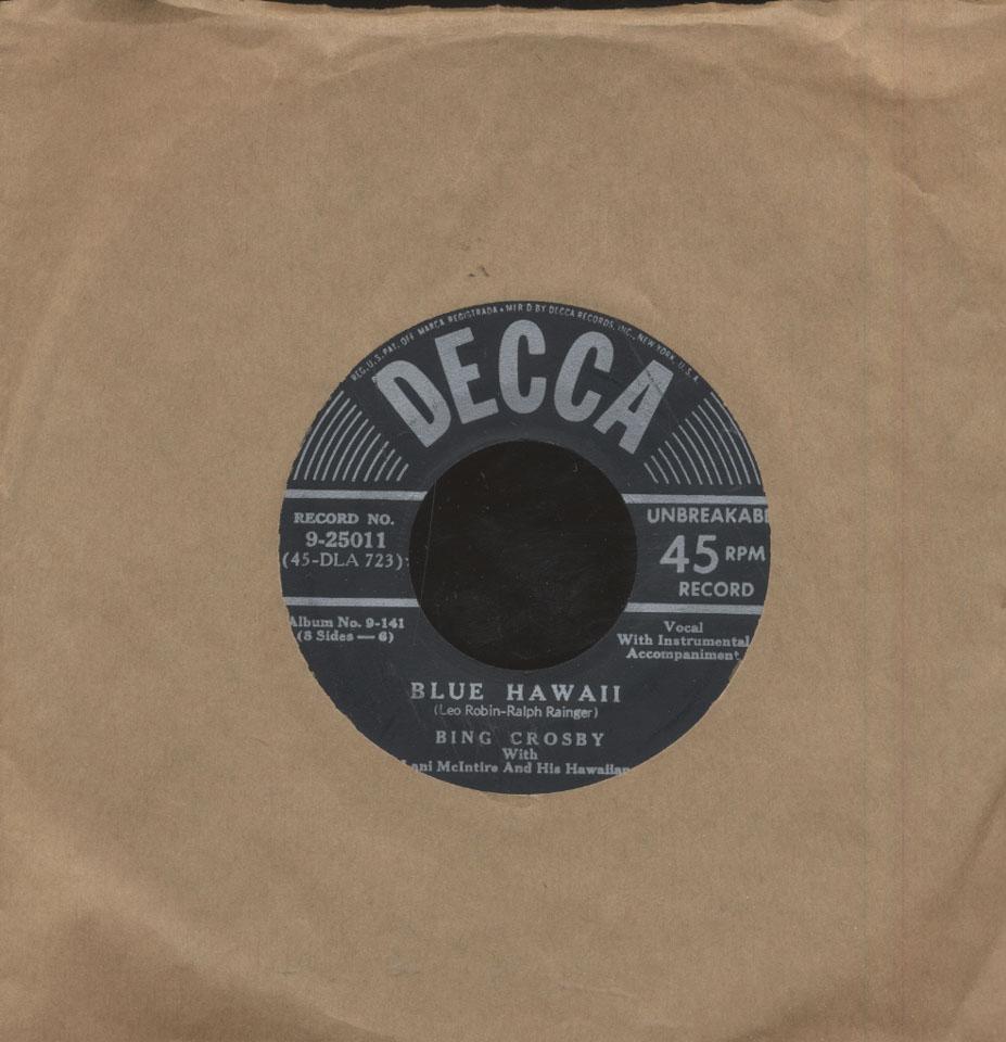 """Favorite Hawaiian Songs Volume One Vinyl 7"""" (Used)"""