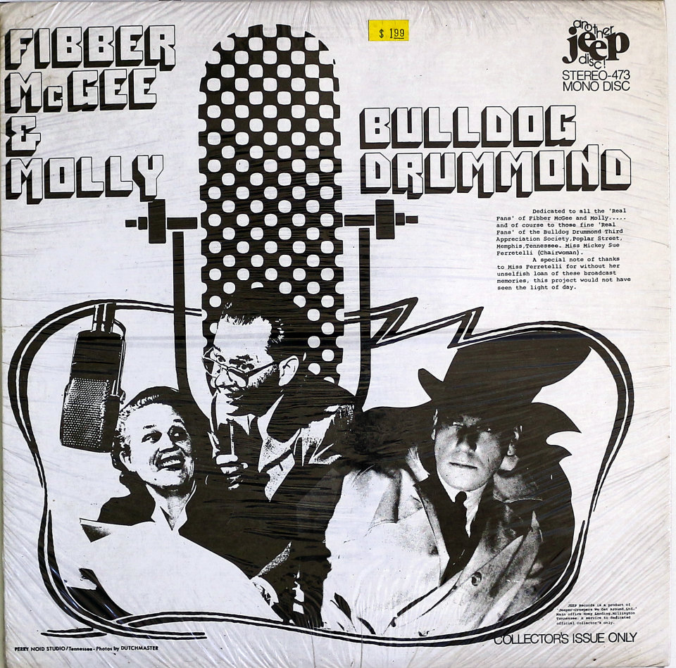"Fibber McGee & Molly Vinyl 12"" (New)"