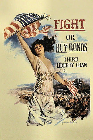 Fight Or Buy Bonds Third Liberty Loan Poster