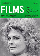 Films In Review Magazine March 1978 Magazine