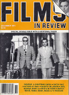 Films in Review Vol. XLII No. 11 / 12 Magazine