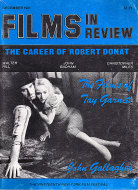 Films in Review Vol. XXXII No. 9 Magazine