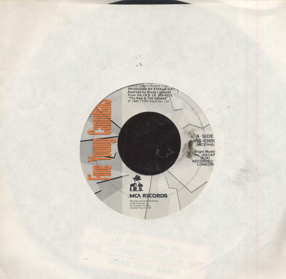 """Fine Young Cannibals Vinyl 7"""" (Used)"""