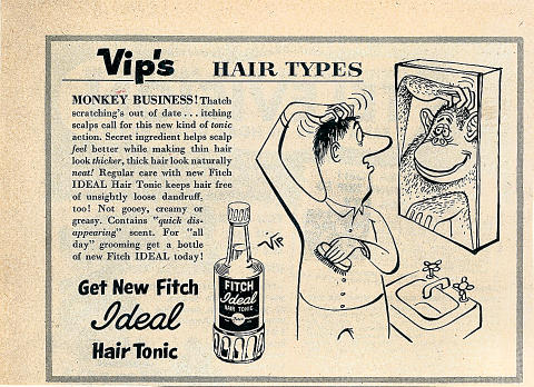 Fitch Ideal Hair Tonic Vintage Ad