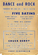 Five Satins Handbill