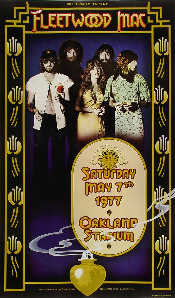 Fleetwood Mac Poster From Oakland Coliseum Stadium May 7