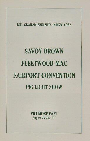 Fleetwood Mac Program reverse side
