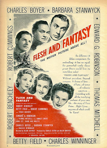 Flesh And Fantasy Vintage Ad