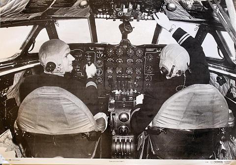 Flight Deck of the Comet 1 Poster