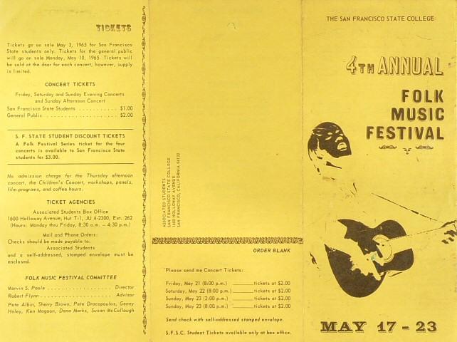 Folk Music Festival Program