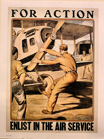 For Action Enlist in Air Service Poster