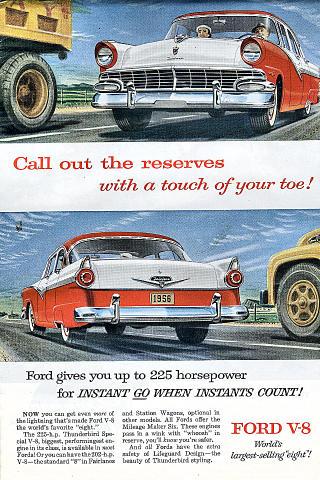 Ford Fairlane V-8 Vintage Ad