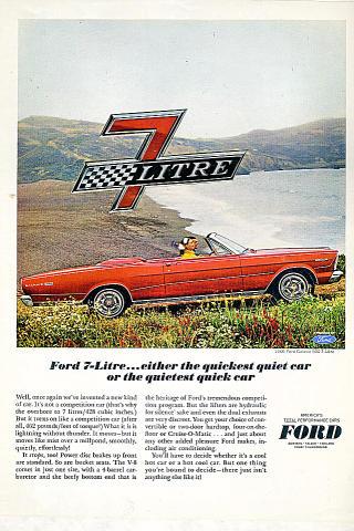 Ford Galaxie Vintage Ad