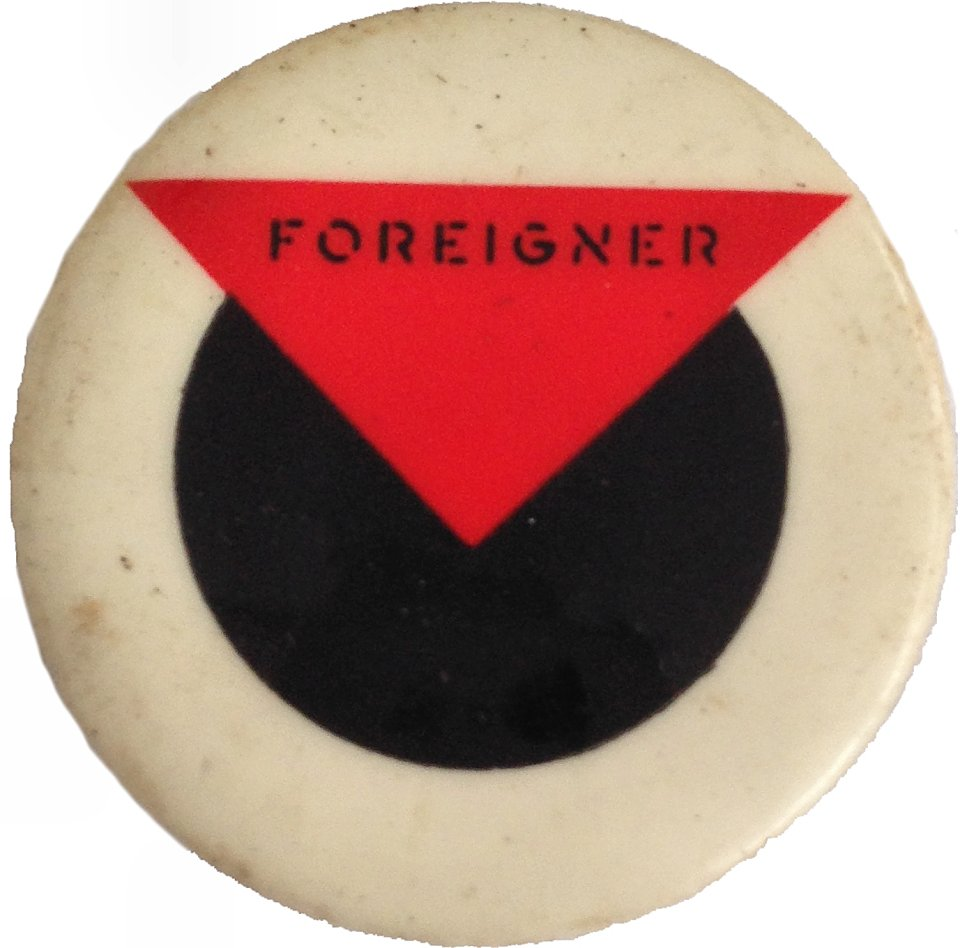 Foreigner Pin