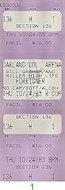 Foreigner Vintage Ticket