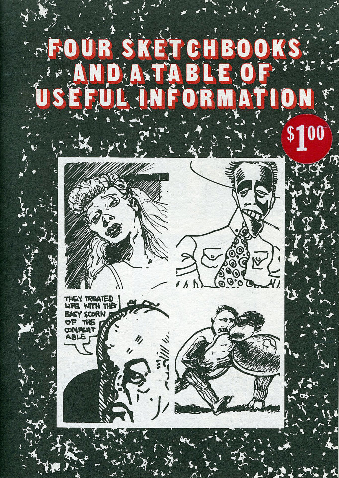 Four Sketchbooks And A Table Of Useful Information Comic Book