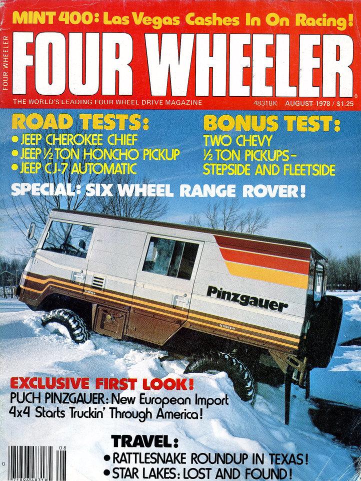 Four Wheeler Magazine August 1978