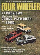 Four Wheeler Magazine October 1976 Magazine