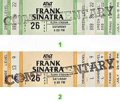 Frank Sinatra Vintage Ticket