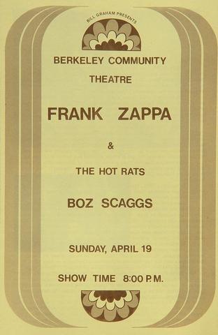 Frank Zappa & the Hot Rats Program