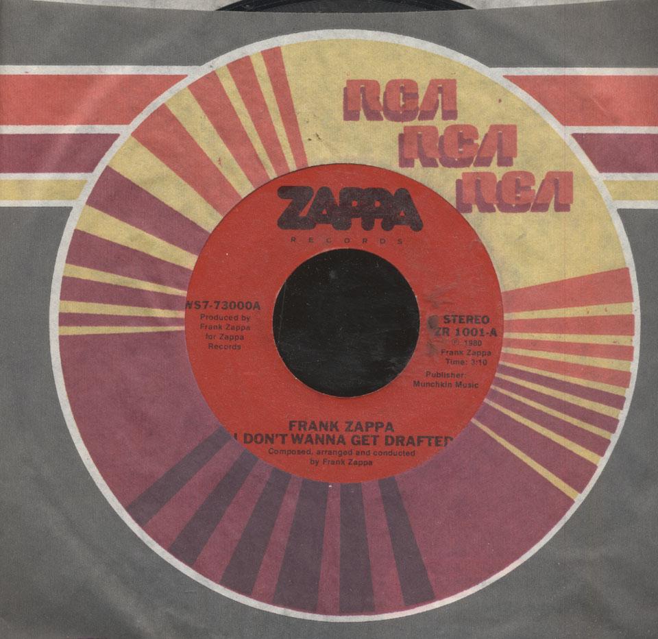 "Frank Zappa Vinyl 7"" (Used)"