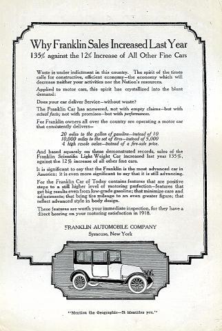 Franklin Vintage Ad