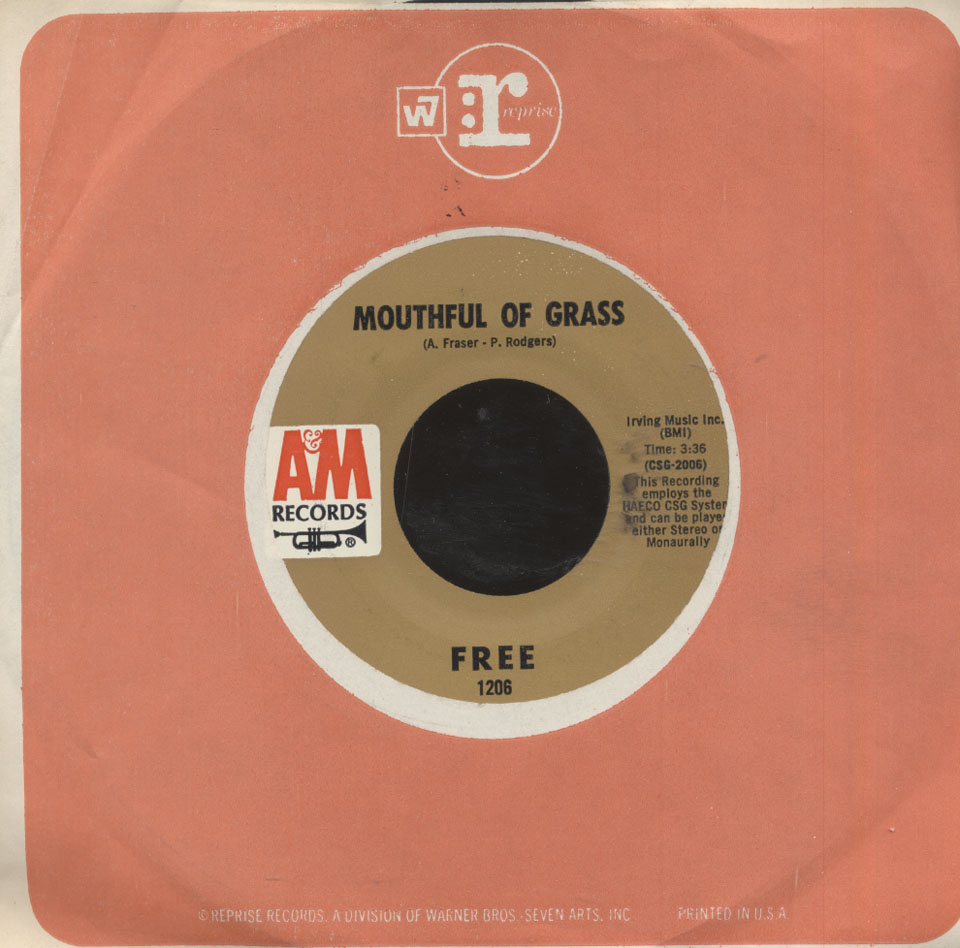 """Free Vinyl 7"""" (Used)"""