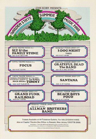 Garden State Summer Music Fair Postcard