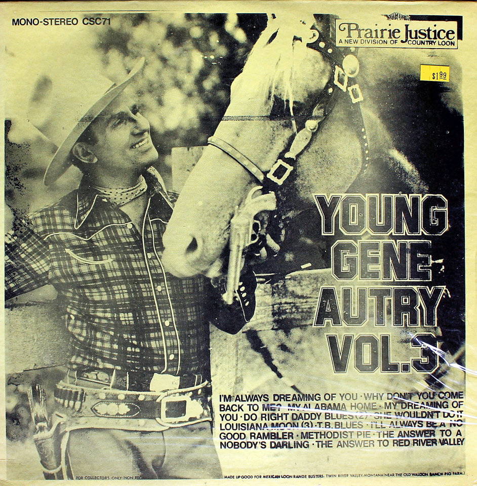 """Gene Autry Vinyl 12"""" (New)"""