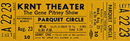 Gene Pitney Vintage Ticket