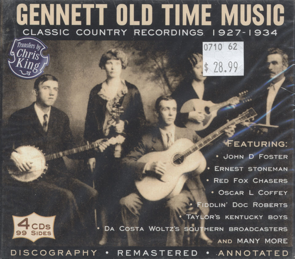 Gennett Old Time Music: Classic Country Recordings (1927-1934) CD at ...