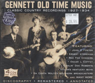 Gennett Old Time Music: Classic Country Recordings (1927-1934) CD