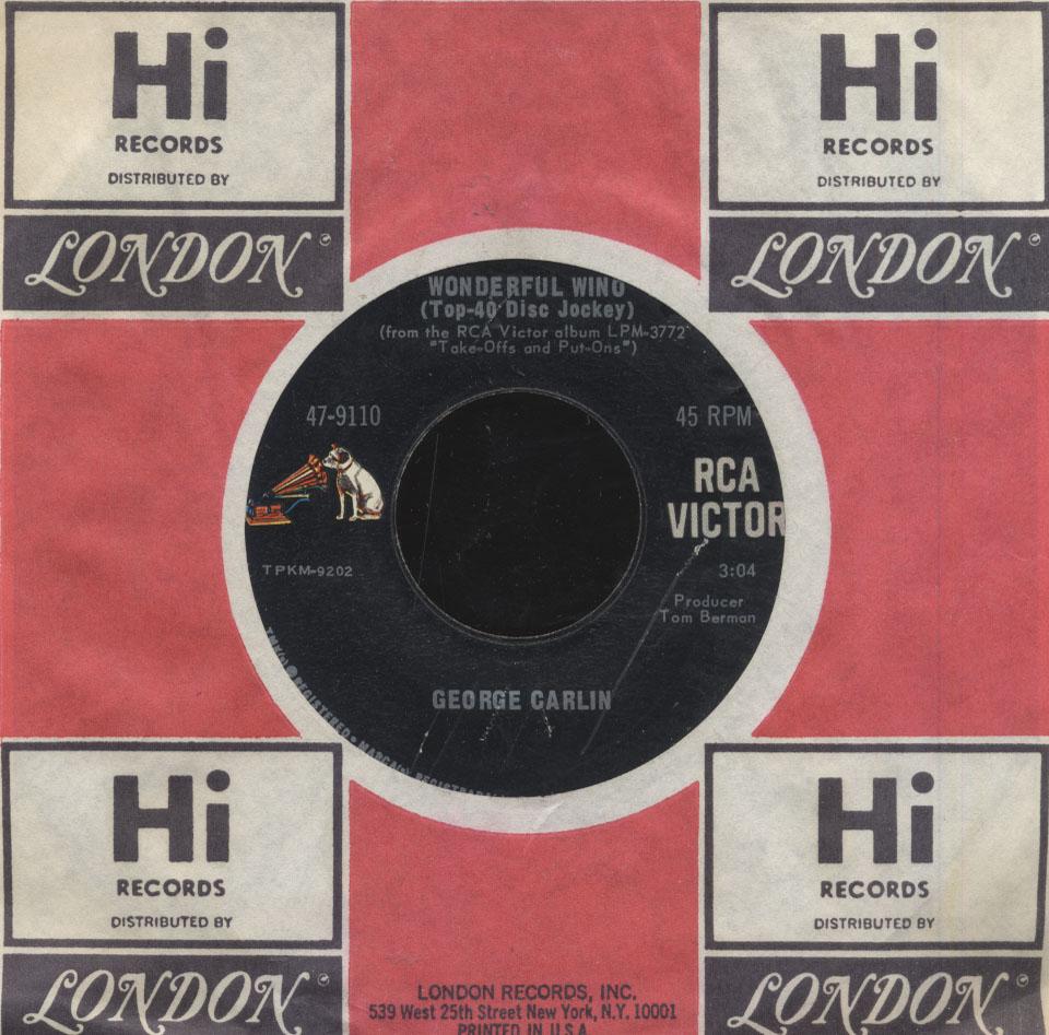 """George Carlin Vinyl 7"""" (Used)"""