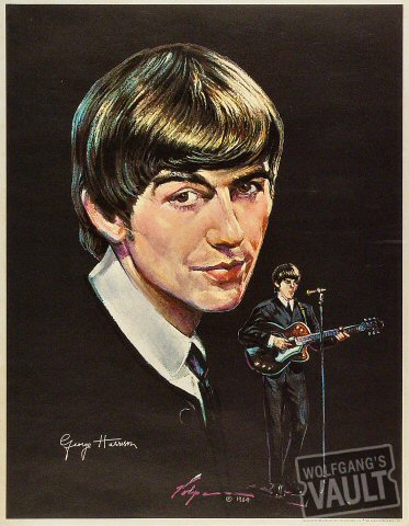 George Harrison Poster 1964 At Wolfgangs