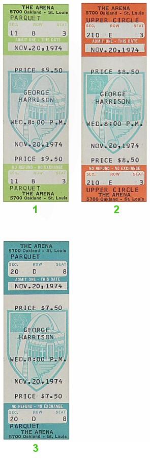 George Harrison Vintage Ticket