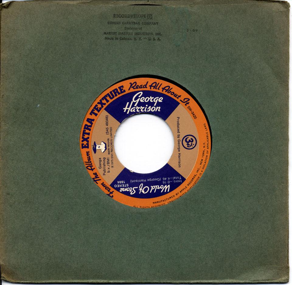 """George Harrison Vinyl 7"""" (Used)"""