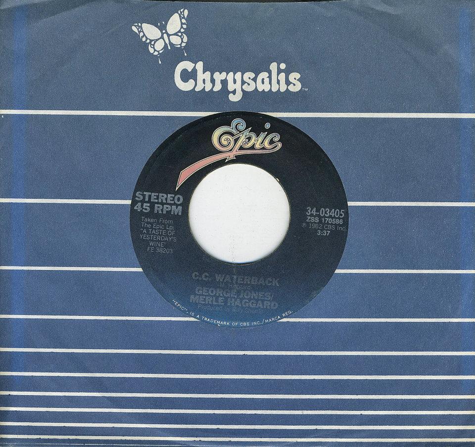 """George Jones And Merle Haggard Vinyl 7"""" (Used)"""