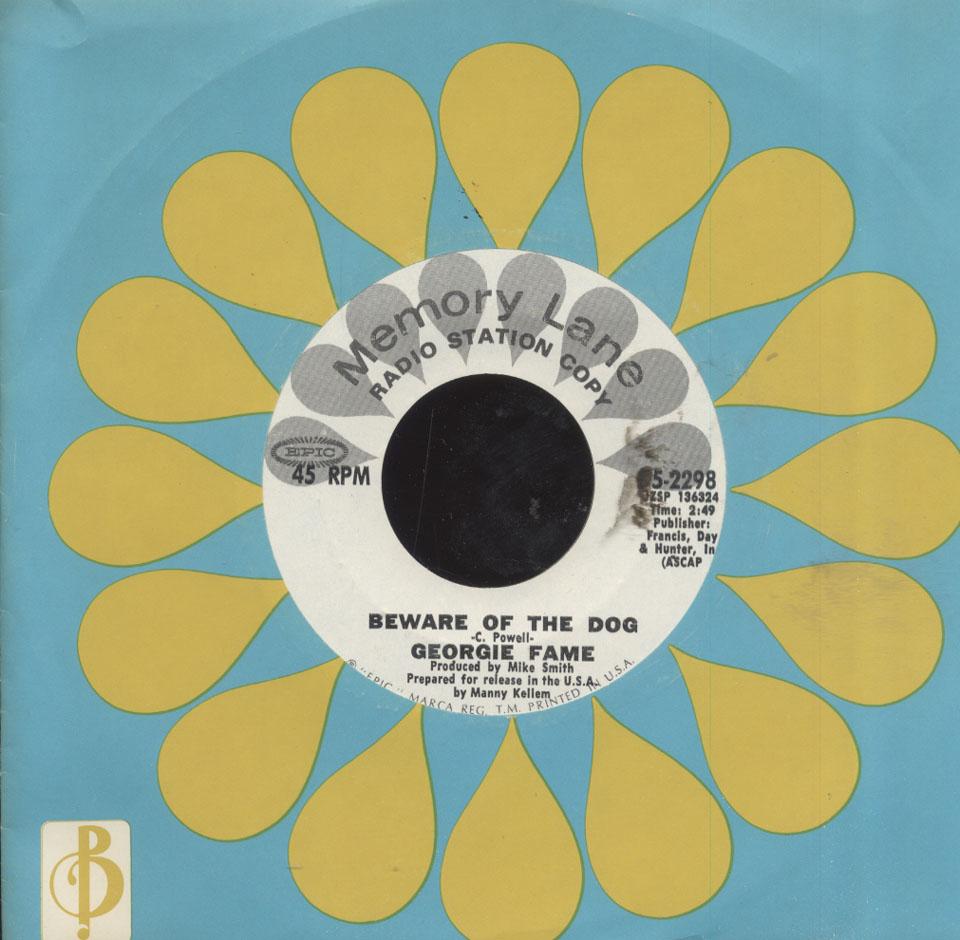 """Georgie Fame Vinyl 7"""" (Used)"""