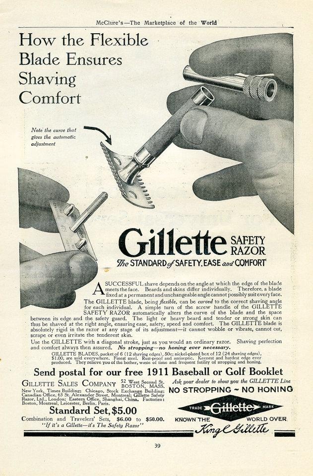 Gillette Safety Razor Vintage Ad