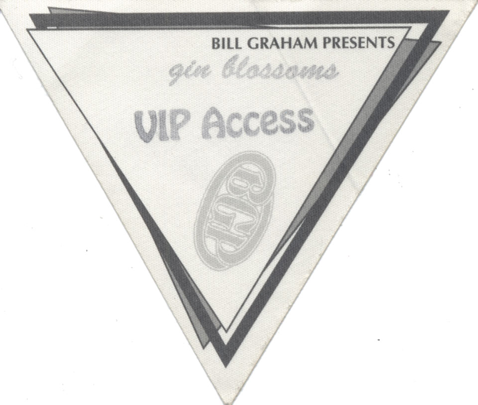 Gin Blossoms Backstage Pass