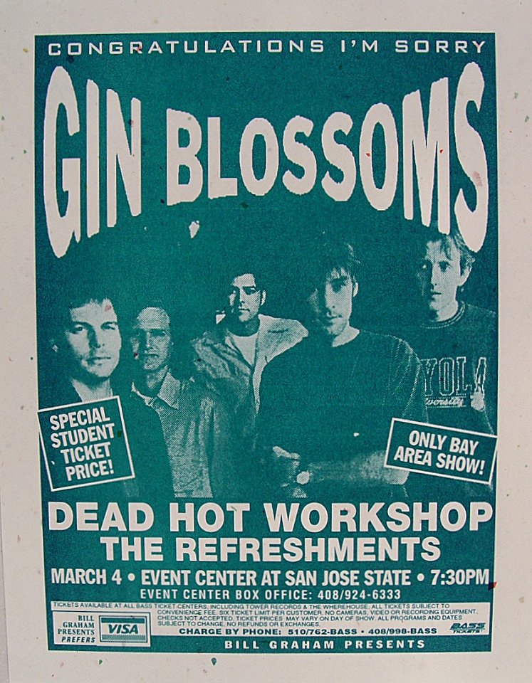 Gin Blossoms Handbill