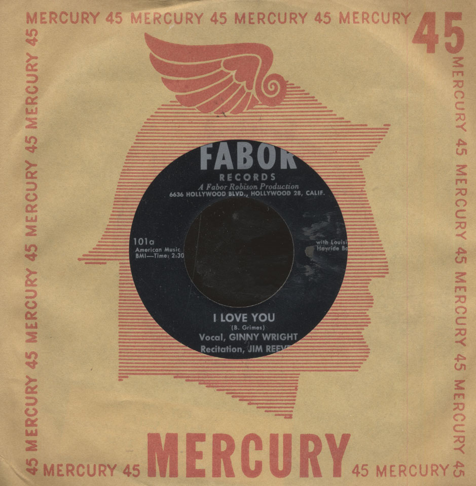 "Ginny Wright / Jim Reeves Vinyl 7"" (Used)"