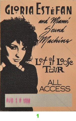 Gloria Estefan & Miami Sound Machine Backstage Pass
