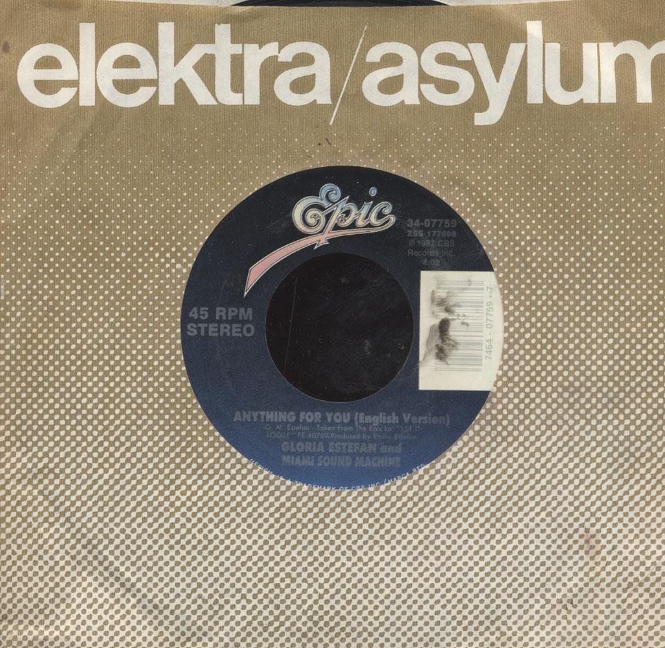 "Gloria Estefan and Miami Sound Machine Vinyl 7"" (Used)"