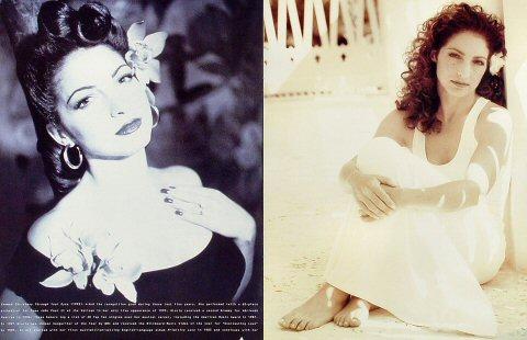 Gloria Estefan Program reverse side
