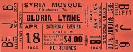 Gloria Lynne Vintage Ticket