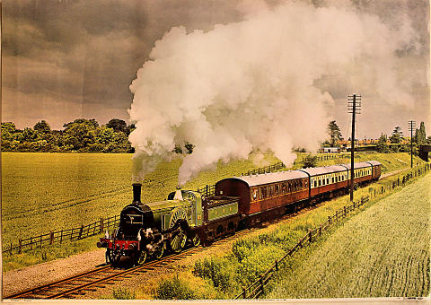 GNR 4-2-2 Patrick Stirling No. 1 Poster