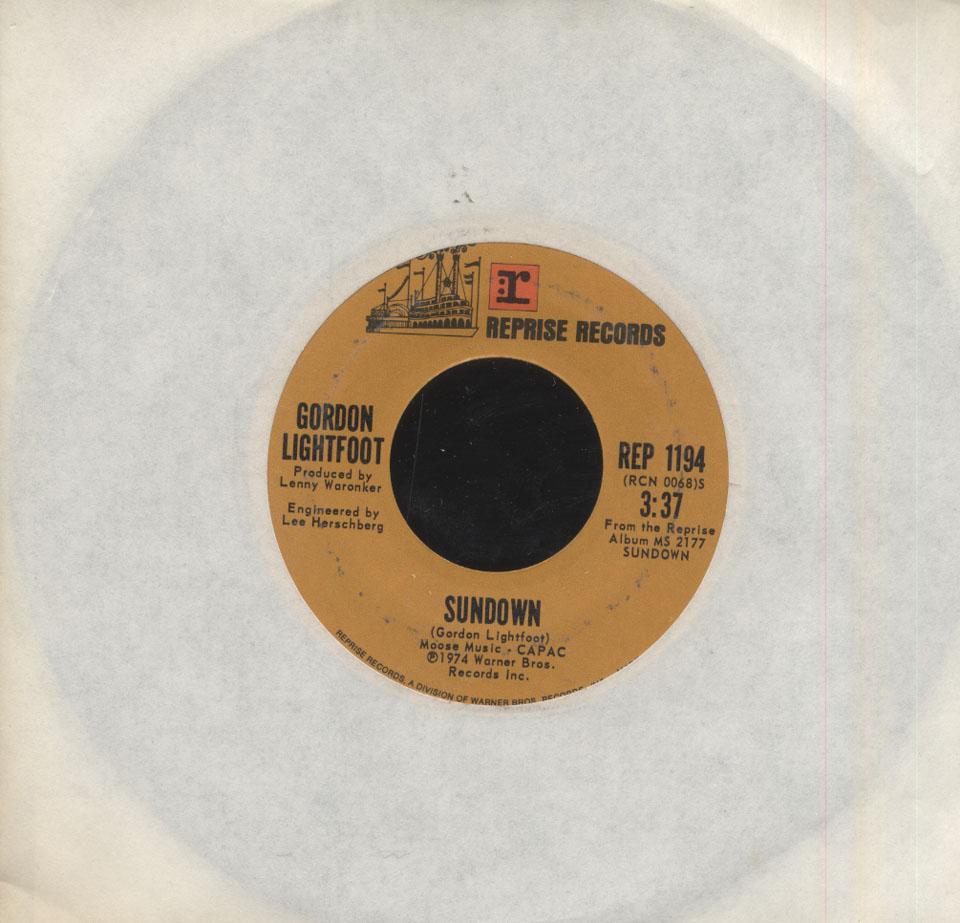 "Gordon Lightfoot Vinyl 7"" (Used)"
